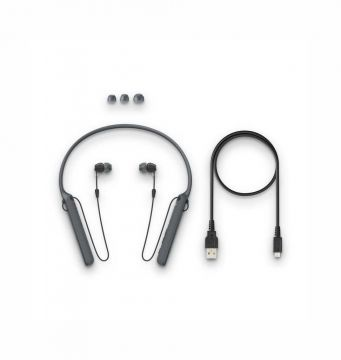 Sony - C400 Wireless Behind-Neck in Ear Headphone(Black)