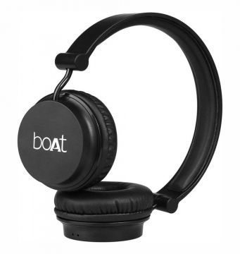 Boat Rockerz 400 On-Ear Bluetooth Headphones (Black)
