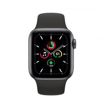 Apple Watch SE (GPS, 44mm) - Silver Aluminum Case with Grey  Band