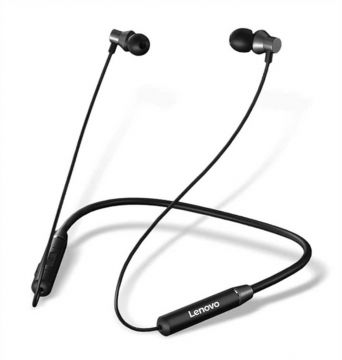 Lenovo HE05 Wireless Bluetooth 5.0 in-Ear Neckband Earphones with Mic (Black )