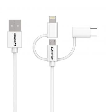 STUFFCOOL TRES SYNC & CHARGE 3 IN 1 CABLE 1.5M