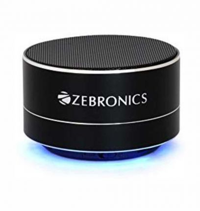 Zebronics ZEB-NOBLE Portable Bluetooth wireless Speaker with built in FM | Mic (Black)