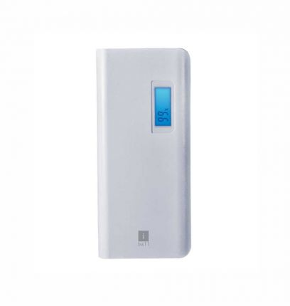 iBall 10000mAH Lithium Polymer Power Bank (White)