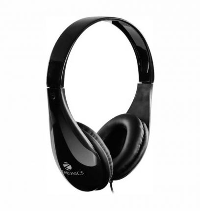 Zebronics ZEB-2100HMV Wireless headphone Wired Headset with Mic  (Black)