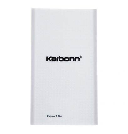 Karbonn Polymer 5 Slim 5000mAH Power Bank (White)